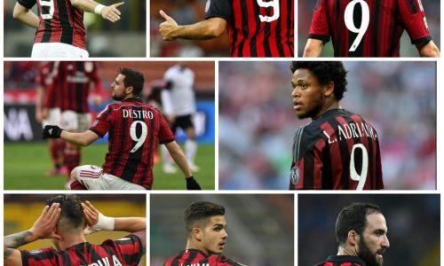 Maglie maledette: la 9 del Milan