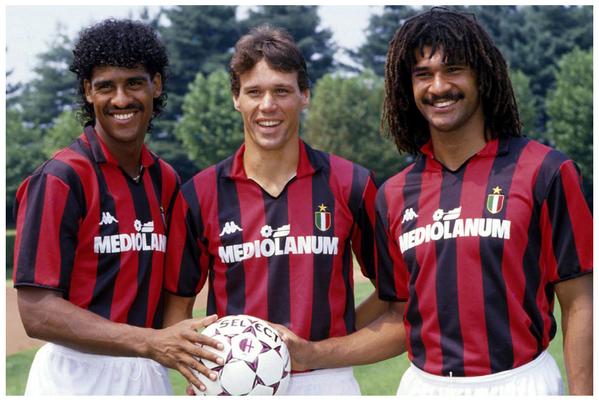 Rijkaard, Van Basten e Gullit