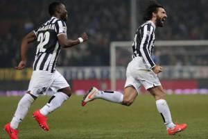 Pirlo e la punizione in zona Cesarini a Genova all'89' (stagione 2013/14)
